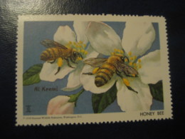 WASHINGTON 1958 Honey Bee Bees Poster Stamp Vignette USA Label Beekeeping Honeybees Apiculture Abeilles Honeybee - Bienen