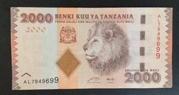 CG0701 - Tanzania 2000 Shillings Banknote 2010 Lion - Tanzania