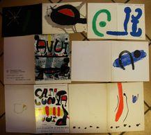 1959-1964 à 1990 Collection Joan Miro Lot De 25 Cartons D'invitation Vernissage Galerie Maeght Paris Dos Scanné Catalan - Autres