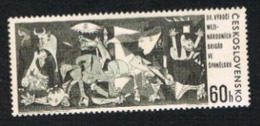"CECOSLOVACCHIA (CZECHOSLOVAKIA) -  SG 1592    - 1966  INT. BRIGADES IN SPAIN: ""GUERNICA"", PICASSO         -  MINT** - Czechoslovakia"