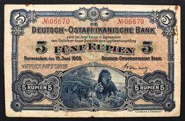 AFRICA ORIENTALE TEDESCA Deutsch-ostafrikanische Bank Allemagne Afrique Est 5 Rupien 1905 LOTTO 2827 - Altri