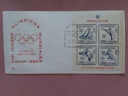 CUBA - BF Olimpiadi Roma 1960 - Non Dentellato + Spese Postali - FDC