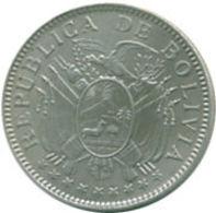 Ref. 1003-1139 - COI BOLIVIA . 1909. 50 CENTAVOS BOLIVIA 1909 SILVER. 50 CENTAVOS BOLIVIA 1909 PLATA - Bolivia