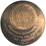 Ref. 1872-2115 - COI PHILIPPINES . 1979. 1979 FIRST NUMISMATIC EXHIBITION SILVER SILVER PHILIPPINES MEDAL. 1979 PRIMERA - Philippines