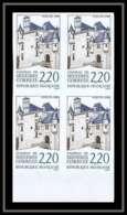 France N°2546 Chateau De Sedières (castle) Bloc De 4 Non Dentelé ** MNH (Imperforate) - No Dentado