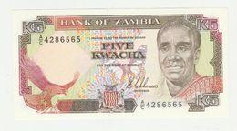 Zambia 5 Kwacha 1989 UNC - Zambia