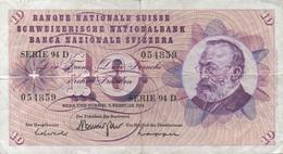 Suisse : 10 Francs 1974 Mauvais état - Zwitserland