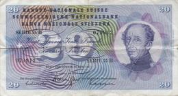 Suisse : 20 Francs 1967 Mauvais état - Zwitserland