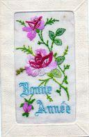 "Carte Brodée ""Bonne Année"". - Embroidered"