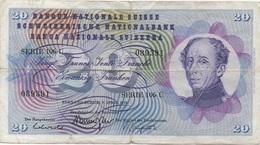Suisse : 20 Francs 1976 Mauvais état - Zwitserland
