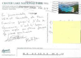 CP CRATER LAKE -timbrée -stamp - Etats-Unis