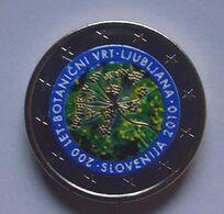 SLOVENIE 2010 - JARDIN BOTANIQUE DE LJUBLJANA -  2 EUROS COMMEMORATIVE  -  VERSION COULEUR - Slovenië
