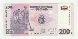 Banque Centrale Du Congo 200 Francs 2013 UNC - Democratische Republiek Congo & Zaire