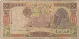 Syrie : 50 Pounds 1998 Très Mauvais état - Siria