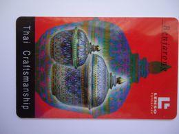 THAILAND CARDS LENSO USED 165/500- THAI ART CRAFTSMANSHIP - Tailandia