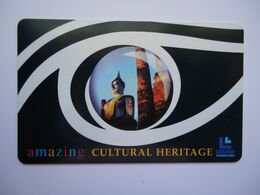 THAILAND USED CARDS SET AMAZING ARTS HERITAGE  Monuments 65/500 - Tailandia