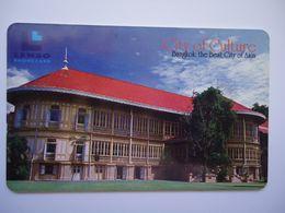 THAILAND CARDS LENSO USED 225 BANGKOK CULTURE CITY BULDING  225/300 - Tailandia
