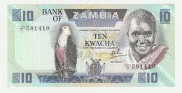 Bank Of Zambia 10 Kwacha 1986-1988 UNC - Zambia