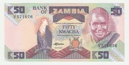 Bank Of Zambia 50 Kwacha 1986-1988 UNC - Zambia