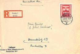 Enveloppe Deutsches Reich Registered Einschreiben Göslar 1943 (fixed Price) - Unclassified