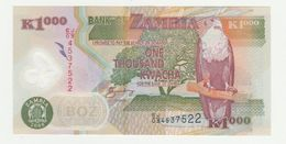 Bank Of Zambia 1000 Kwacha 2008 UNC (polymar) - Zambia