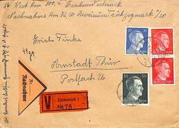 Enveloppe Deutsches Reich Nachnahme Emmerich  Wax Cire Arnstadt 1944  (fixed Price) - Unclassified