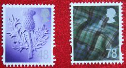 Distel Tartan Scotland (Mi 95-96) 2007 POSTFRIS MNH ** ENGLAND GRANDE-BRETAGNE GB GREAT BRITAIN - Escocia