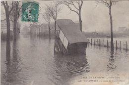CRUE DE LA SEINE Janvier 1910 COLOMBES Avenue De Gennevilliers - Colombes