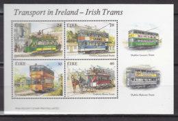 IRLAND Block 6, Postfrisch **, Irisches Verkehrswesen (I): Historische Straßenbahnen 1987 - Blocks & Sheetlets