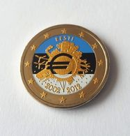 ESTONIE 2012 - 10 ANS DE L'EURO -  2 EUROS COMMEMORATIVE  -  VERSION COULEUR - Estonia