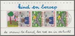 NIEDERLANDE Block 30, Gestempelt, Kind Und Beruf 1987 - Bloks