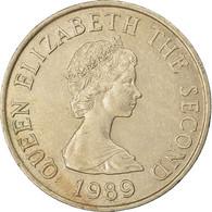 Monnaie, Jersey, Elizabeth II, 10 Pence, 1989, TTB, Copper-nickel, KM:57.1 - Jersey
