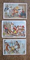 Lot De 3 Petits Menus Illustrés 1884 - 1885 - Menus