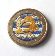 GRECE 2012 - 10 ANS DE L'EURO -  2 EUROS COMMEMORATIVE  -  VERSION COULEUR - Grecia
