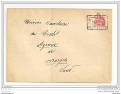 25 - 65 - Enveloppe Suisse Avec Oblit Rectangulaire De Cortébert - 1947 - Switzerland