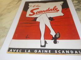 ANCIENNE  PUBLICITE LE BAS SCANDALE 1953 - Posters