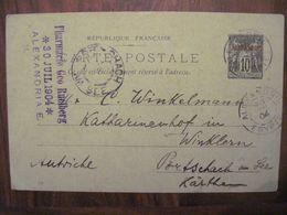 Alexandrie 1904 Egypte CPA France Adressée à Pörtschach Am See Osterreich - Covers & Documents