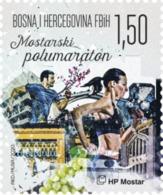 2020 Sport, Mostar Half Marathon, Croat Post Mostar, Bosnia And Herzegovina, MNH - Bosnia And Herzegovina