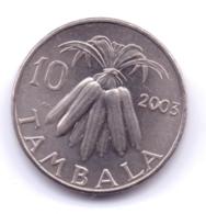 MALAWI 2003: 10 Tambala, KM 27 - Malawi