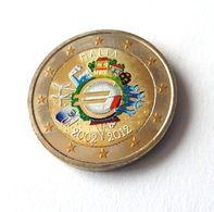 MALTE 2012 - 10 ANS DE L'EURO -  2 EUROS COMMEMORATIVE  -  VERSION COULEUR - Malta