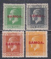 Samoa Administration Néo-zélandaise N° 83 / 86 X Partie De Série Surchargée : Les 4 Valeurs Trace De Charnière Sinon TB - Samoa