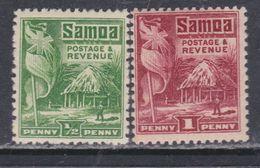 Samoa Mandat Néo-zélandais N° 98 / 99 X Partie De Série : Les 2 Valeurs Trace De Charnière Sinon TB - Samoa
