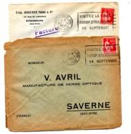 Lettre Flamme Strasbourg Visitez Foire Sur Paix Centre ? - Marcophilie (Lettres)