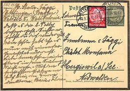 Postkarte Deutsches Reich Ettlingen 1934 (fixed Price) - Covers & Documents