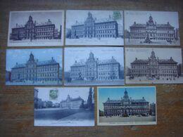 Lot De 8 Cartes De ANTWERPEN - Anvers --- Hôtel De Ville - Stadhuis - Antwerpen
