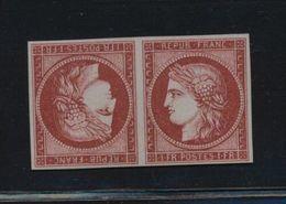 ***REPLICA*** Of 1849 Ceres - 1Fr Carmine - Tete-beche Pair - France