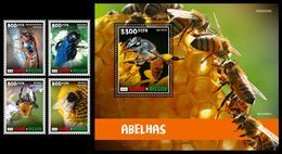GUINEA BISSAU 2020 - Bees, 4v + S/S Official Issue [GB200204] - Non Classés