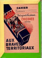 PROTEGE CAHIER : Ancien Chicorée Extra  AUX BRAVES TERRITORIAUX Bourbourg - Schutzumschläge