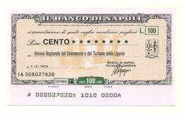 1976 - Italia - Banco Di Napoli - Unione Regionale Del Commercio E Del Turismo Della Liguria - [10] Assegni E Miniassegni