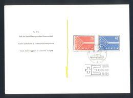 SWITZERLAND - Sondermarken 1957 Timbres Speciaux Francobolli Speciali Europa - Nice Commemorative Cancel 'Europa Woche 1 - Europa-CEPT